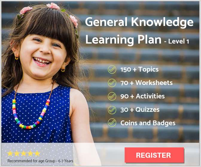 General Knowledge Learning Plan - Level 1 (for 6-7 yrs kids)