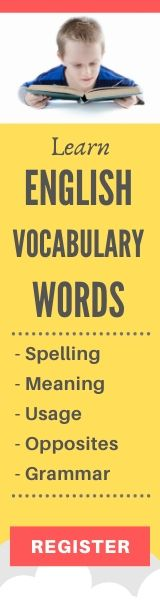 Learn english vocabulary words for 6-7 Yrs kids