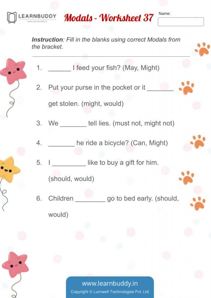 Modals - Worksheet #37