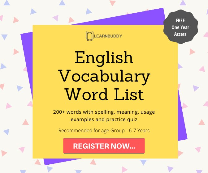 Best Resource for English Vocabulary Words for 6-7 years kids