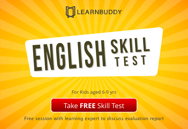 Free English skill test for kids aged 6-9 years